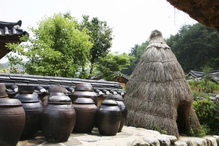 韓国ソンビの伝統的な村 写真素材