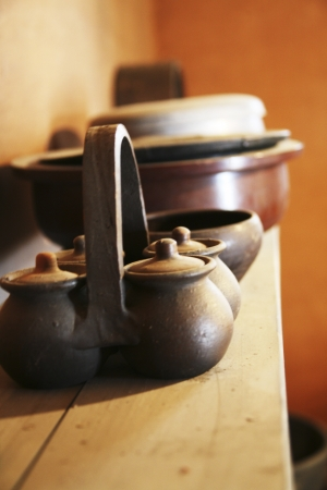 reminisce: Traditional props in South Korea,Bowl Stock Photo