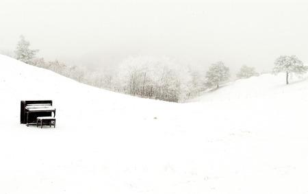 美しい冬の風景南朝鮮大関嶺で 写真素材