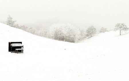 Beautiful winter landscape in south korea Daegwallyeong
