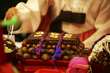 traditions in South Korea,Wedding  Stock Photo