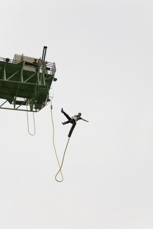 bungee jumping: Hermoso paisaje en Corea del Sur, la isla de Nami puenting Editorial
