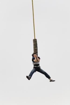 bungee jumping: Hermoso paisaje en Corea del Sur, la isla de Nami puenting Foto de archivo
