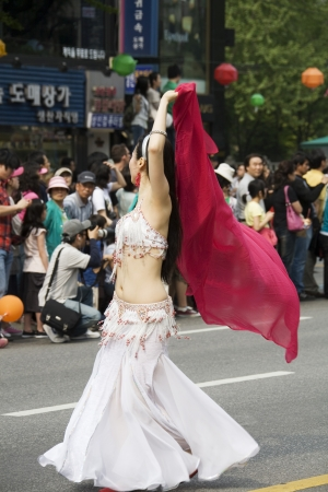 traditional events: Traditional events in South Korea , Seoul  festival street procession