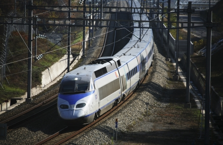 High Speed Rail in south korea, ktx   Editorial