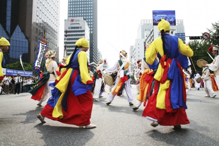 traditional festivals: Traditional festivals in south korea , Seoul  Festival parades  Editorial
