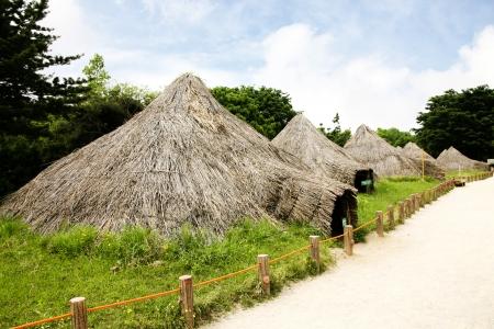 neolithic: Sitios neol�ticos en corea del sur, Foto de archivo