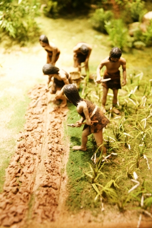 neolithic: Neolithic hunter model in south korea