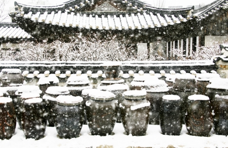 Winter landscape in south korea,Traditional Houses,Hanok