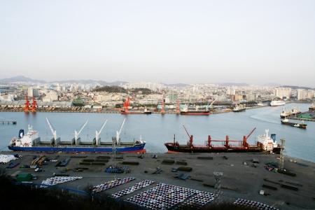 incheon: Beautiful landscape in South Korea,Incheon Harbor Stock Photo