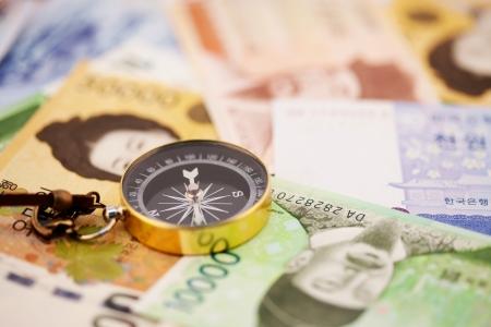 韓国のお金 写真素材