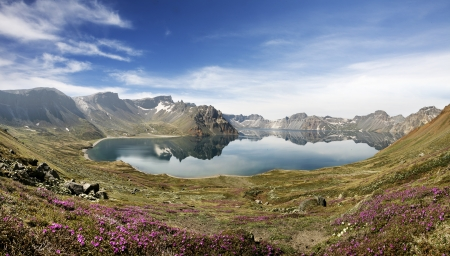 Beautiful mountains in Korea,Paektu mountain