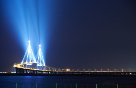 incheon: Beautiful night view in South Korea,Incheon  Bridge