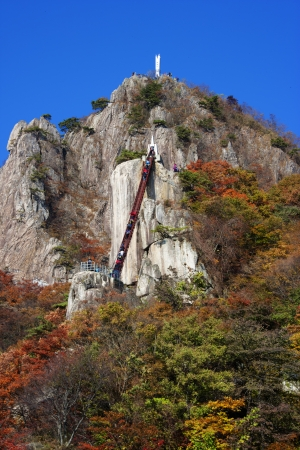 Beautiful autumn landscape in south korea Daedunsan photo