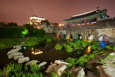 traditional architecture in south korea,Suwon  Castle photo