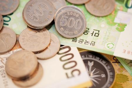 韓国、コンパスのお金