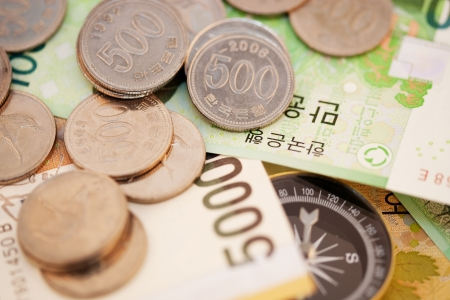 coinage: Money in south korea,Compass