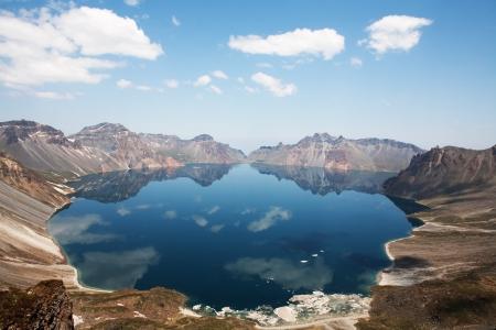Beautiful mountains in Korea, Paektu mountain, Cheonji  写真素材