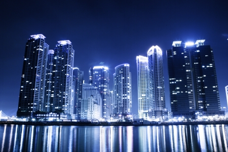 Beautiful night view in South Korea , Busan
