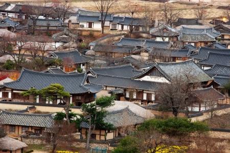folk village: Hahoe folk village in south korea