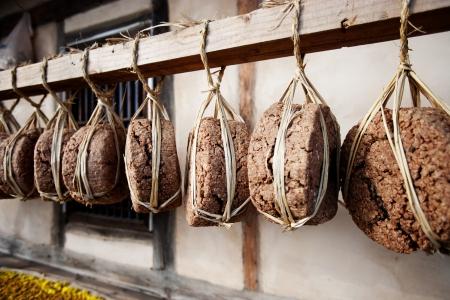 fermented soybean lump  Meju