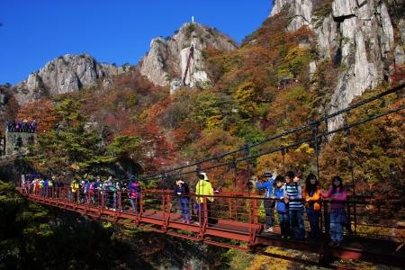 Beautiful autumn landscape in south korea Daedunsan