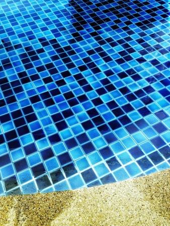 tile: blue floor tiles Stock Photo