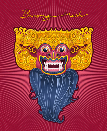 Mask in the mythology of Bali, Indonesia Vector
