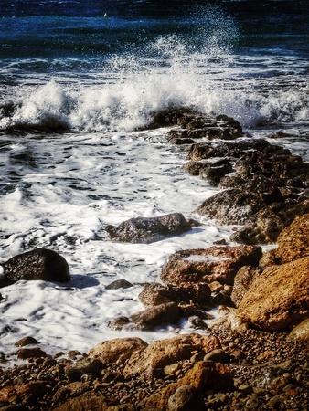 granola: Gran ola en el d�a de sol, Ibiza, Espa�a Foto de archivo