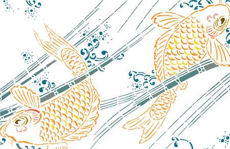 imagery: Koi fish vector
