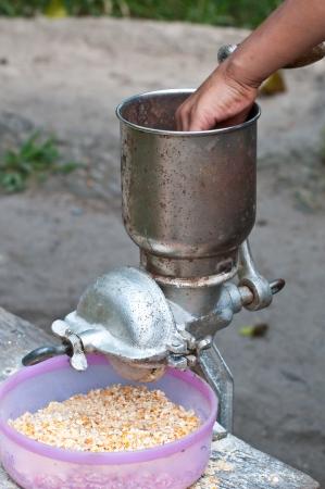 Corn grinder Banco de Imagens