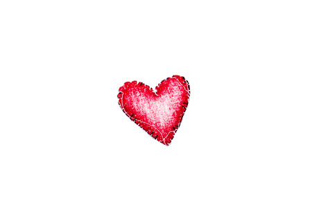 Red heart with white background photo
