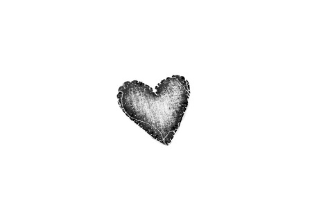 Black heart with white background photo