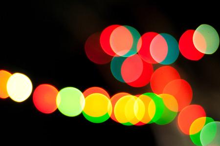 Red and blue lights on  black background Banco de Imagens