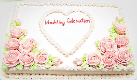 Wedding Cake in Wedding Day Stock Photo