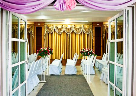 Wedding celebration in hotel