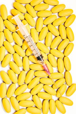 Medical-Syrige  pills tablets capsules caplets