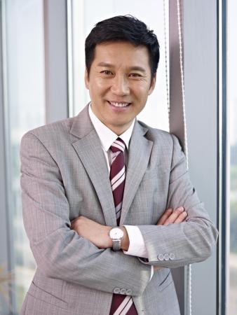 business shirt: portrait of an asian businessman