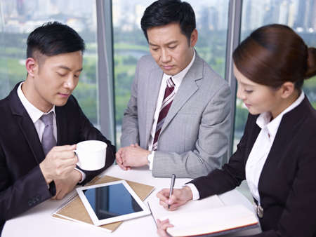 asian business people at a meeting in office Stock Photo - 18341940