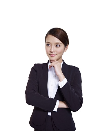 asian businesswoman, isolated on white  Stock Photo - 18335055