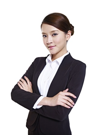 studio portrait of an asian business executive photo