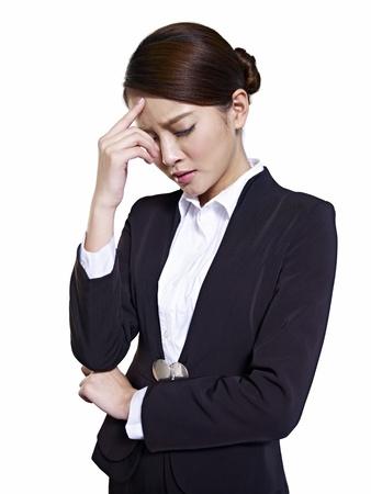 studio portrait of an asian business executive Stock Photo