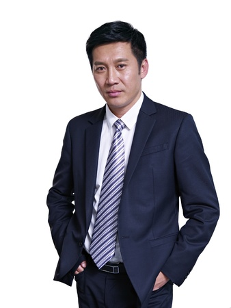 studio portrait of an asian businessman  photo