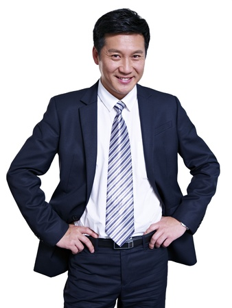 studio portrait of an asian businessman