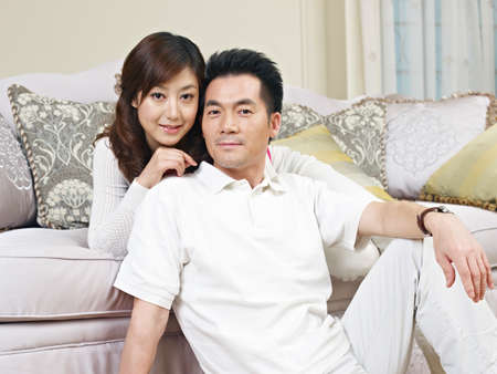 portrait of a young asian couple  photo