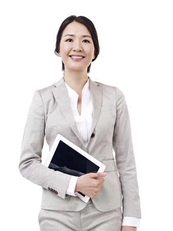 asian businesswoman with tablet computer  photo