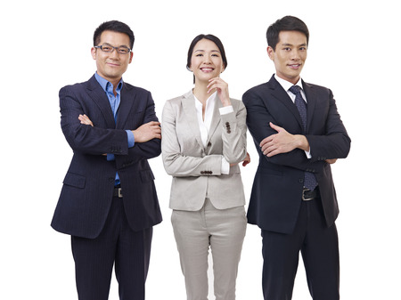 studio portrait of an asian business team  photo