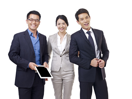 asia business: studio portrait of an asian business team  Stock Photo