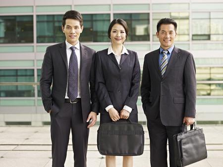 japanese woman: portrait of an asian business team.