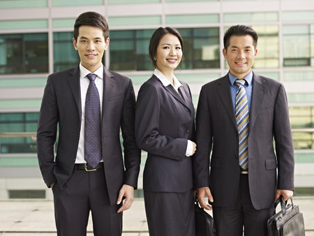 portrait of an asian business team.